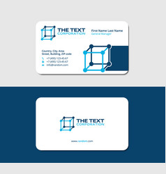 Business card nanotechnology blue color vector