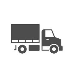 cargo van glyph icon or logistic concept vector image