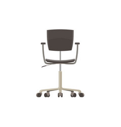 chair office icon black isolated furniture vector image vector image