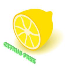 citrus allergen free icon isometric style vector image