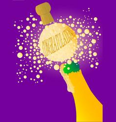 congratulations champagne vector image