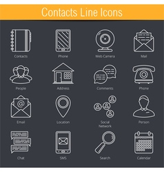 Contacts Icons vector image