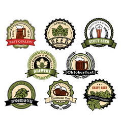 craft beer ale lager alcohol drinks label set vector image