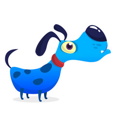 Cute and tiny dog cartoon vector