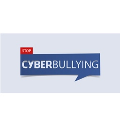 Cyberbullying banner template isolated vector image