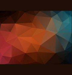 dark color polygonal texture background vector image