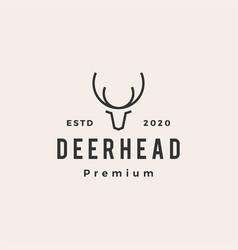 deer head hipster vintage logo icon vector image