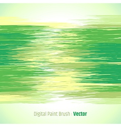 Digital paint background green vector image