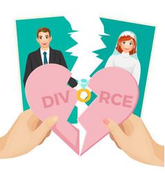 Divorce concept splitted vector