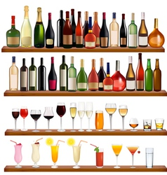 drinks and bottles vector image