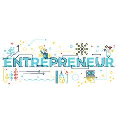Entrepreneur word lettering vector