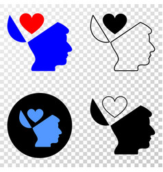 favourites open mind eps icon with contour vector image