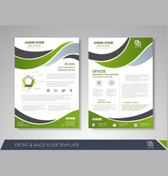 flyer layout vector image