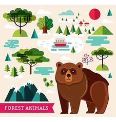 Forest animals - bear vector