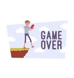game over poster vector image