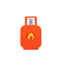 Gas lpg tank icon vector