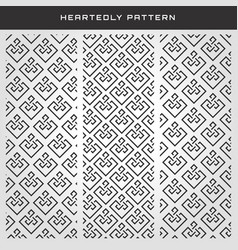 geometric heartedly pattern set vector image
