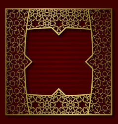 golden cover frame in square form vector image