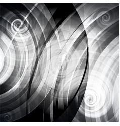 Gray circles and twirls vector