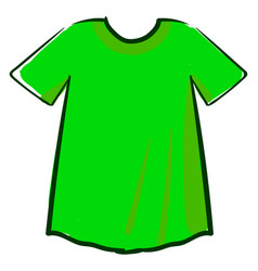 green man shirt on white background vector image