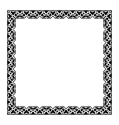 Gypsy ornamental frame square border vector