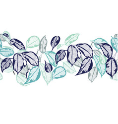 hand-drawn leaves tropical botanical foliage vector image