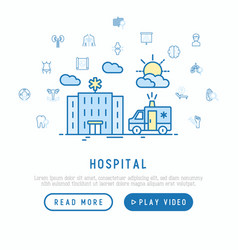Hospital and ambulance concept vector