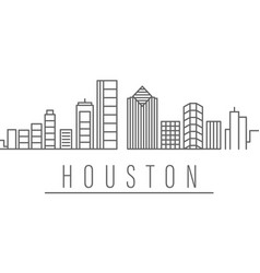 Houston city outline icon elements cities and vector
