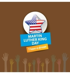 Martin Luther King day us sticker or label vector image