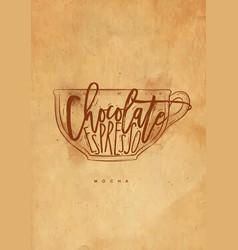 Mocha cup craft vector