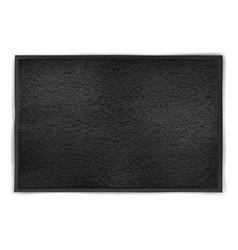 mock up black unfolded towel vector image