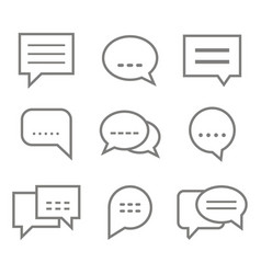 monochrome set with speech bubbles vector image