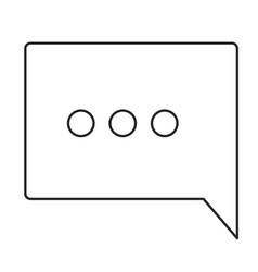 monochrome silhouette of speech square with vector image