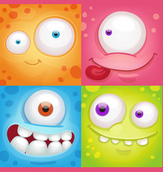 Monster faces vector
