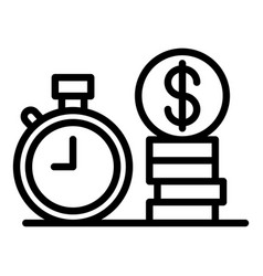 Mortgage interest icon outline style vector