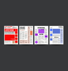 newspaper daily journal design financial vector image