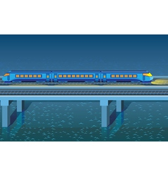 Night express train vector