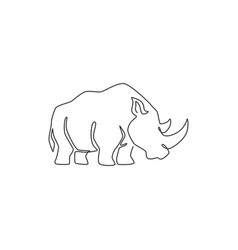One continuous line drawing strong white vector