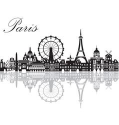 Paris city skyline 2 vector