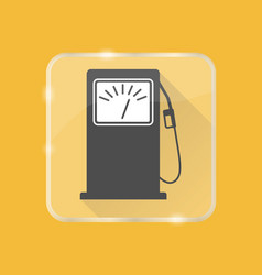 Petrol filling station silhouette icon in flat vector