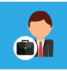 Portfolio business man suit worker icon vector