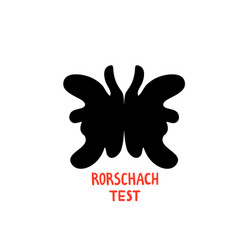 Psychology rorschach test psychotherapy and vector