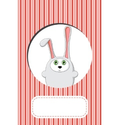 rabbit gift card design vector image