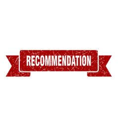 Recommendation ribbon recommendation grunge band vector