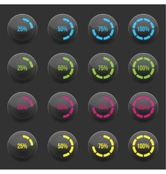 Round progress bar element vector image