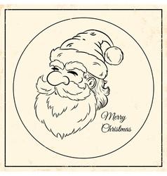 Santa vintage black vector image