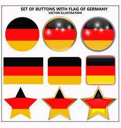Set of banners with flag of germany vector
