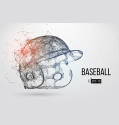 Silhouette a baseball helmet vector