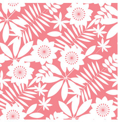 Simple tropical floral design seamless pattern vector