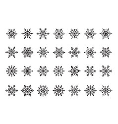 snowflakes symbols collection vector image